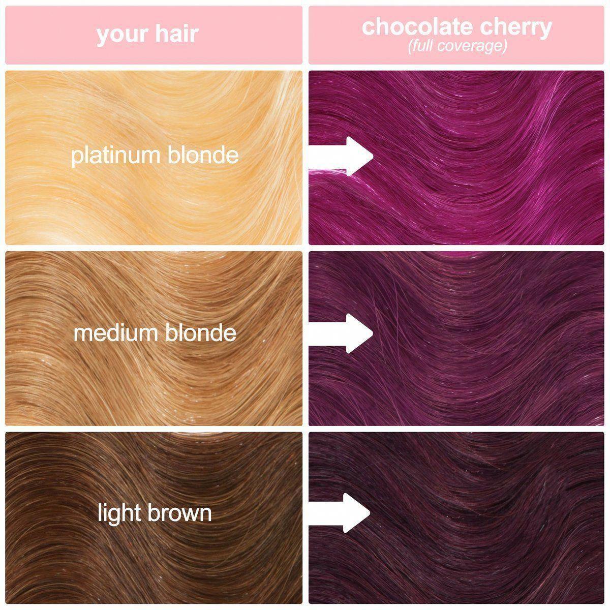 Chocolate Cherry Red Burgundy Vegan Semi Permanent Hair Dye Lime Crime Unicornhair Camb Tintes De Cabello Rojo Tintes De Cabello Colores De Cabello Mechas