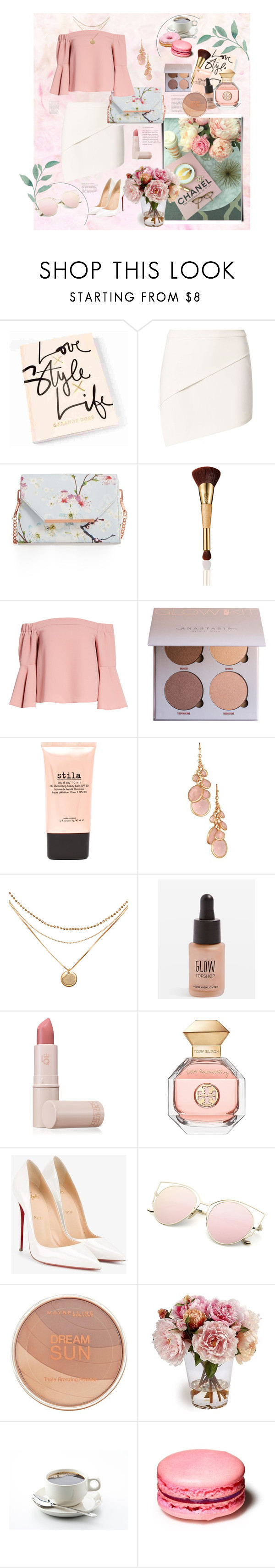 """Untitled #200"" by etotnikzanyat on Polyvore featuring Michelle Mason, Ted Baker, tarte, Topshop, Stila, Avon, Lipstick Queen, Tory Burch, Christian Louboutin and Maybelline"