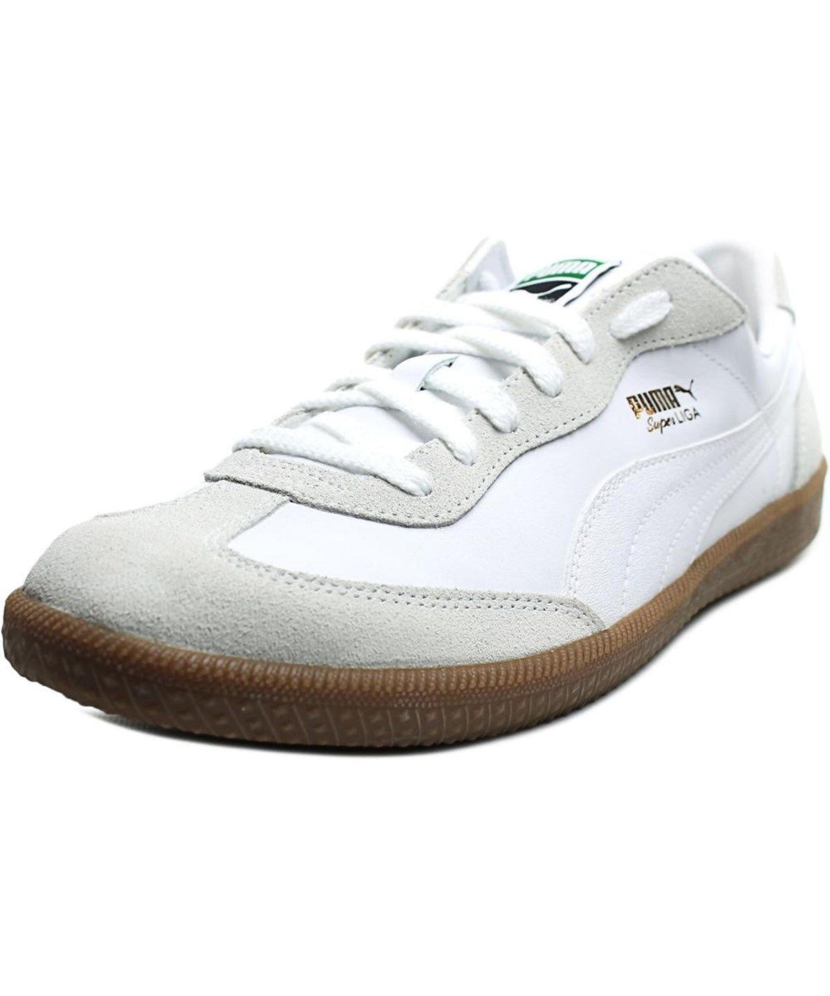 Discounts Puma Star Stars Round Toe Leather White Sneakers For Men On Sale