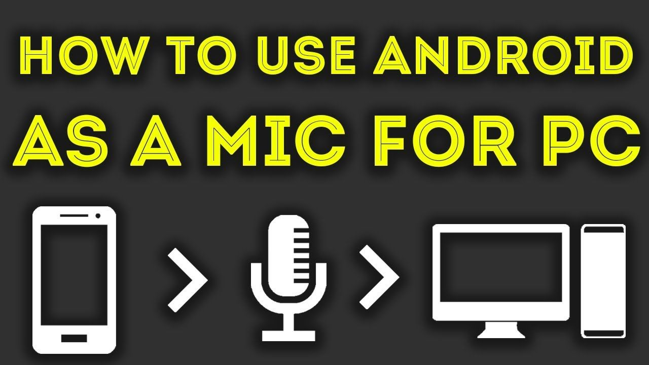 How To Use Moblie As A Microphone For Recording In PC