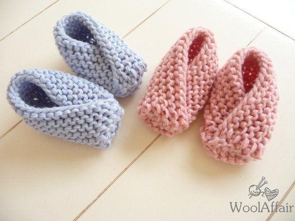 schnell und einfach Babyschuhe stricken - Grobstrick DIY ...