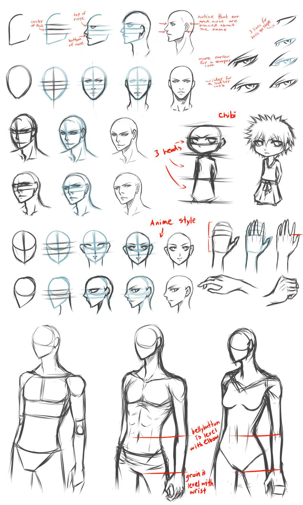 Basic drawing tips by for Cartoon body tutorial