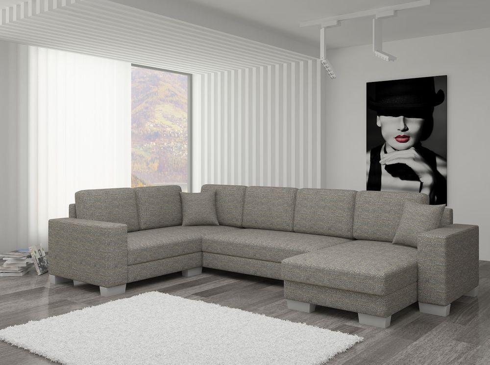 Details zu Couch Couchgarnitur Sofa Polsterecke MC 08 U - big sofa oder wohnlandschaft