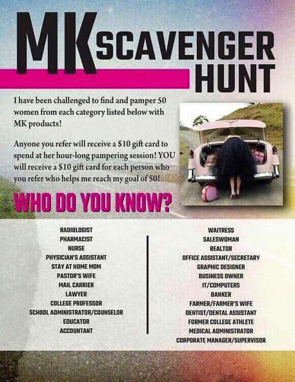MK scavenger hunt