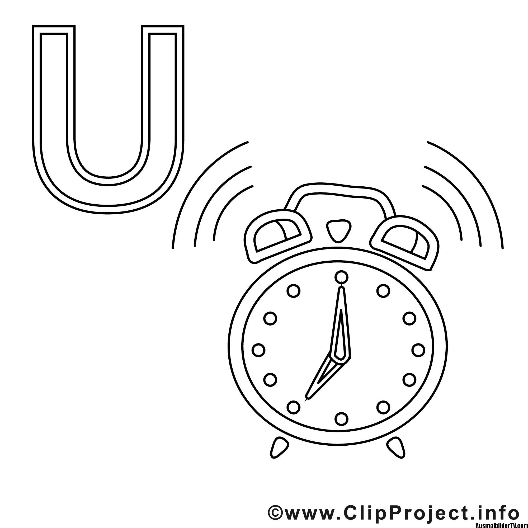 Malvorlagen Uhr