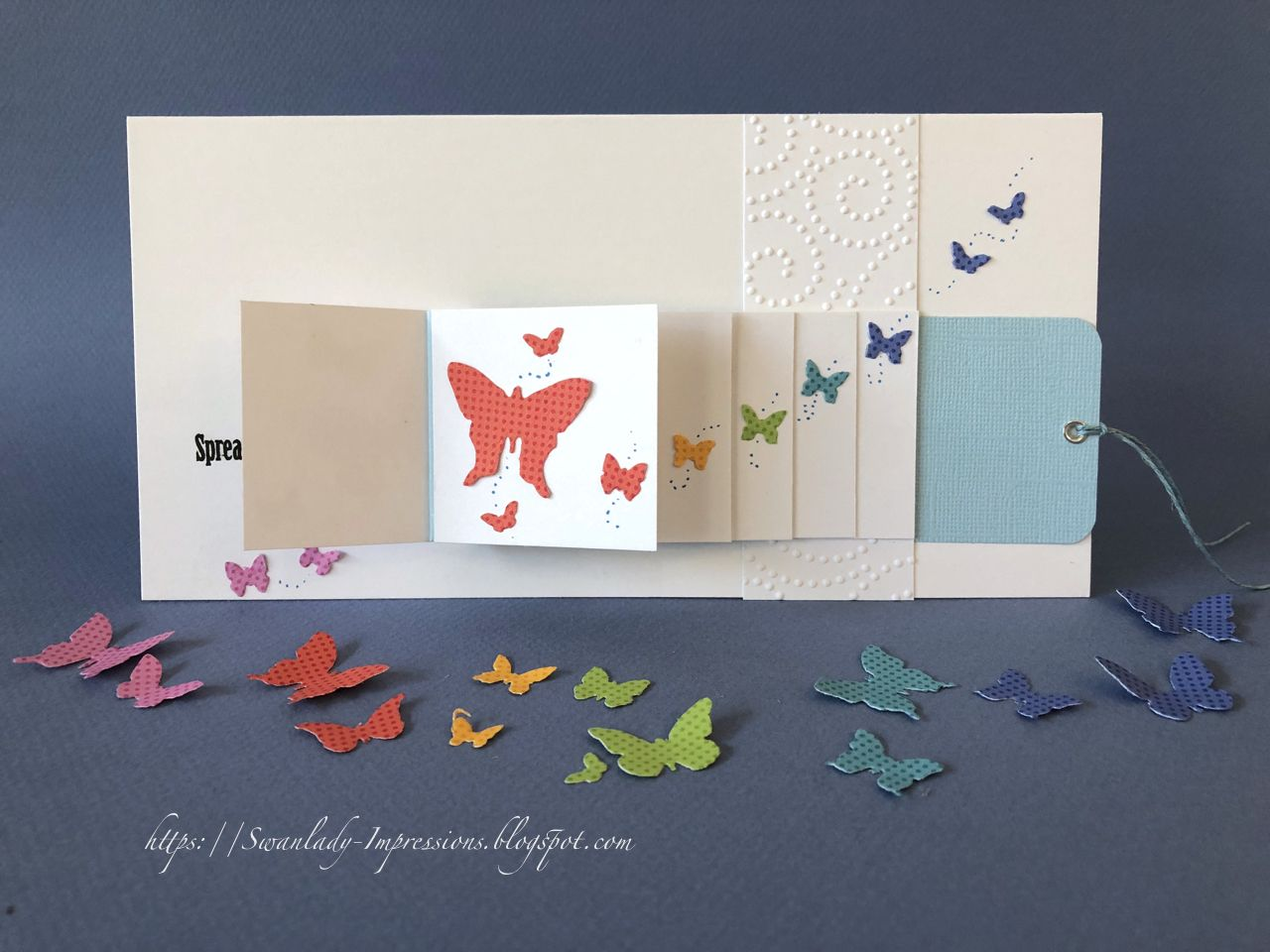 Butterfly waterfall card waterfall cards cards waterfall