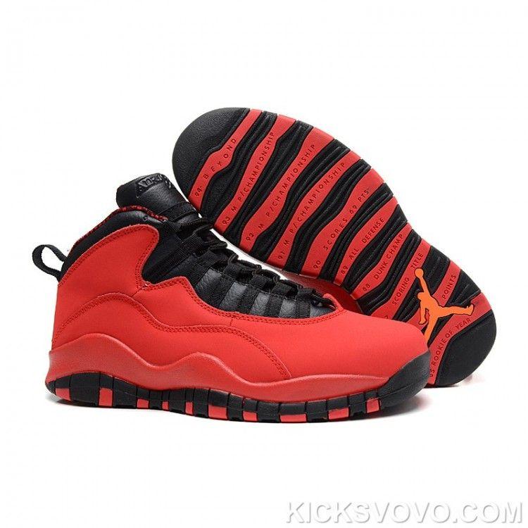 Air Jordan 10 Genuine Mid Red Black