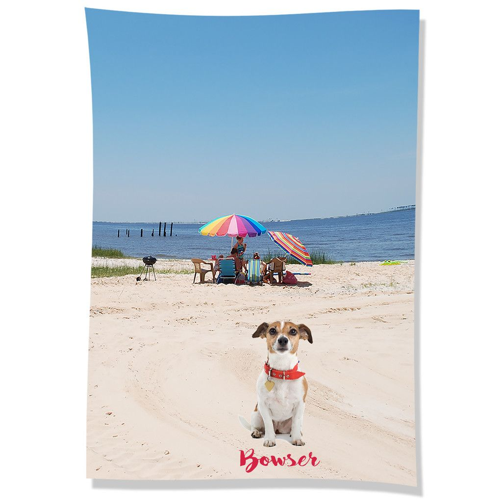 Personalized Beach Towel Featuring A Pet S Photo This Microfiber