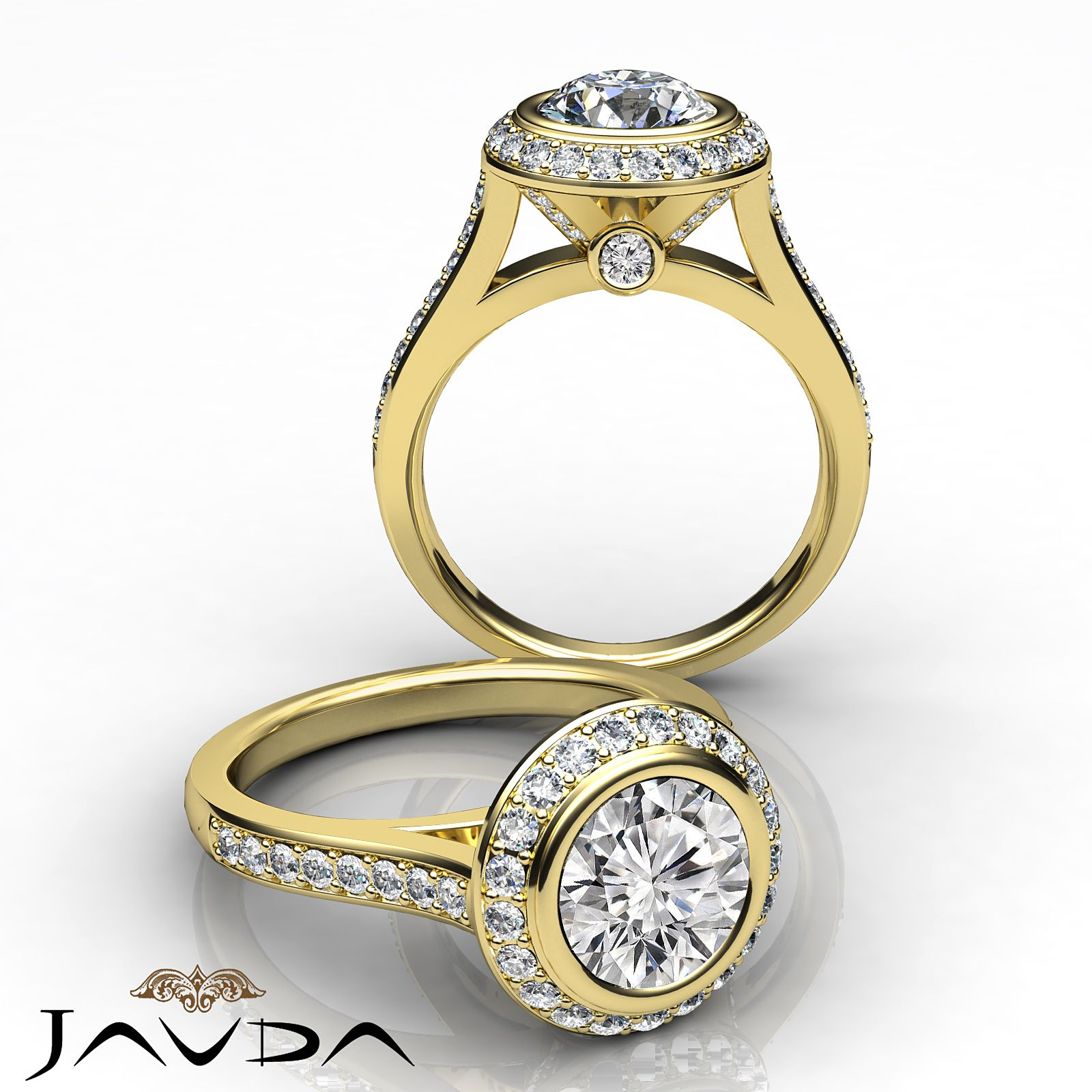 Ideal round diamond delicate pave engagement ring gia g vs k