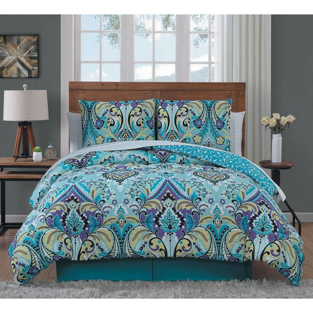 Avondale Manor Misha 6 Piece Mint Twin Bed In A Bag Set