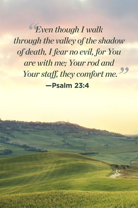 Psalm 23:4   WomansDay.com · Jewish QuotesCatholic ...