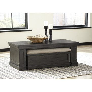 Fargo Coffee Table With Nested Ottoman Set Of 2