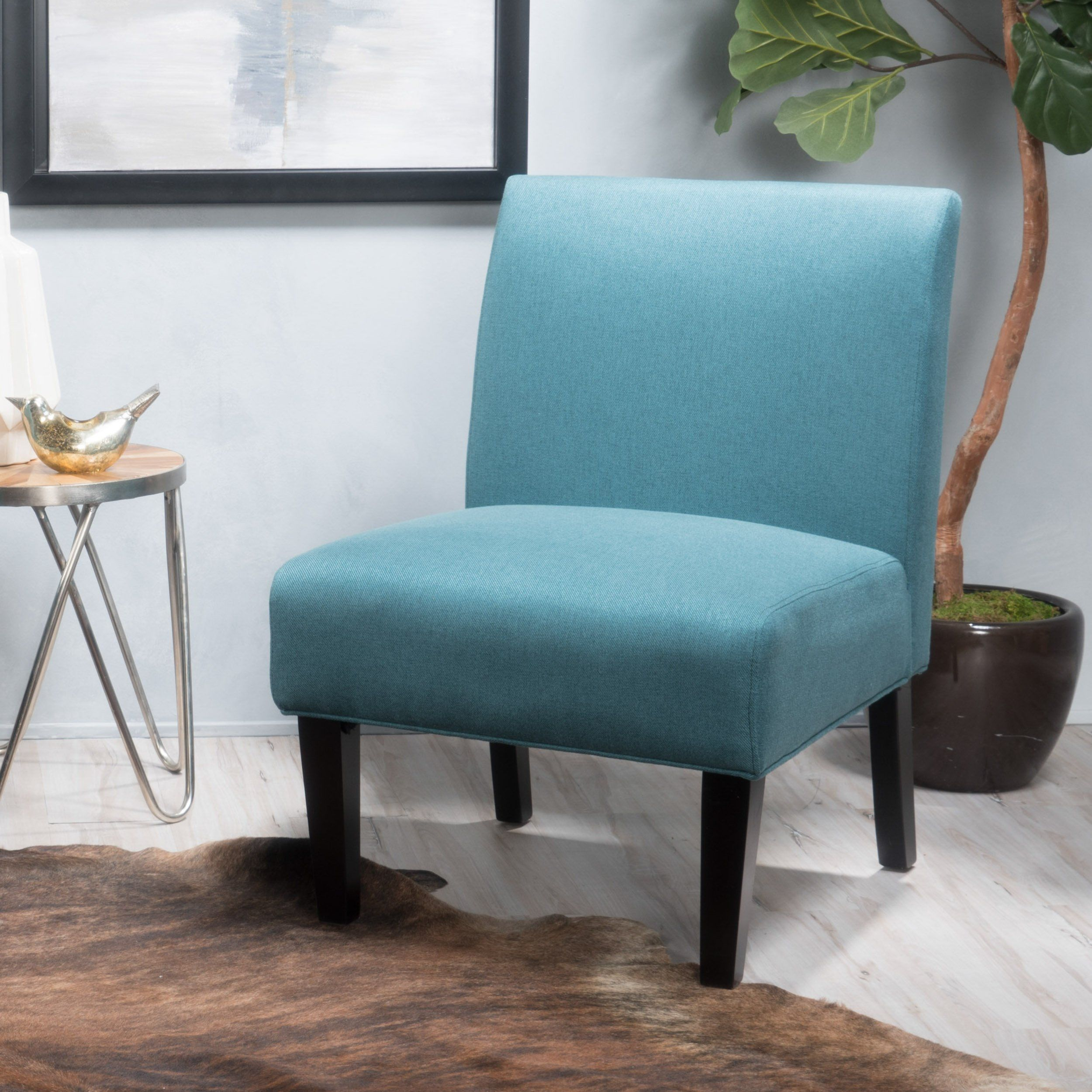 Christopher Knight Home Kendal Dark Teal Fabric Accent Chair 29