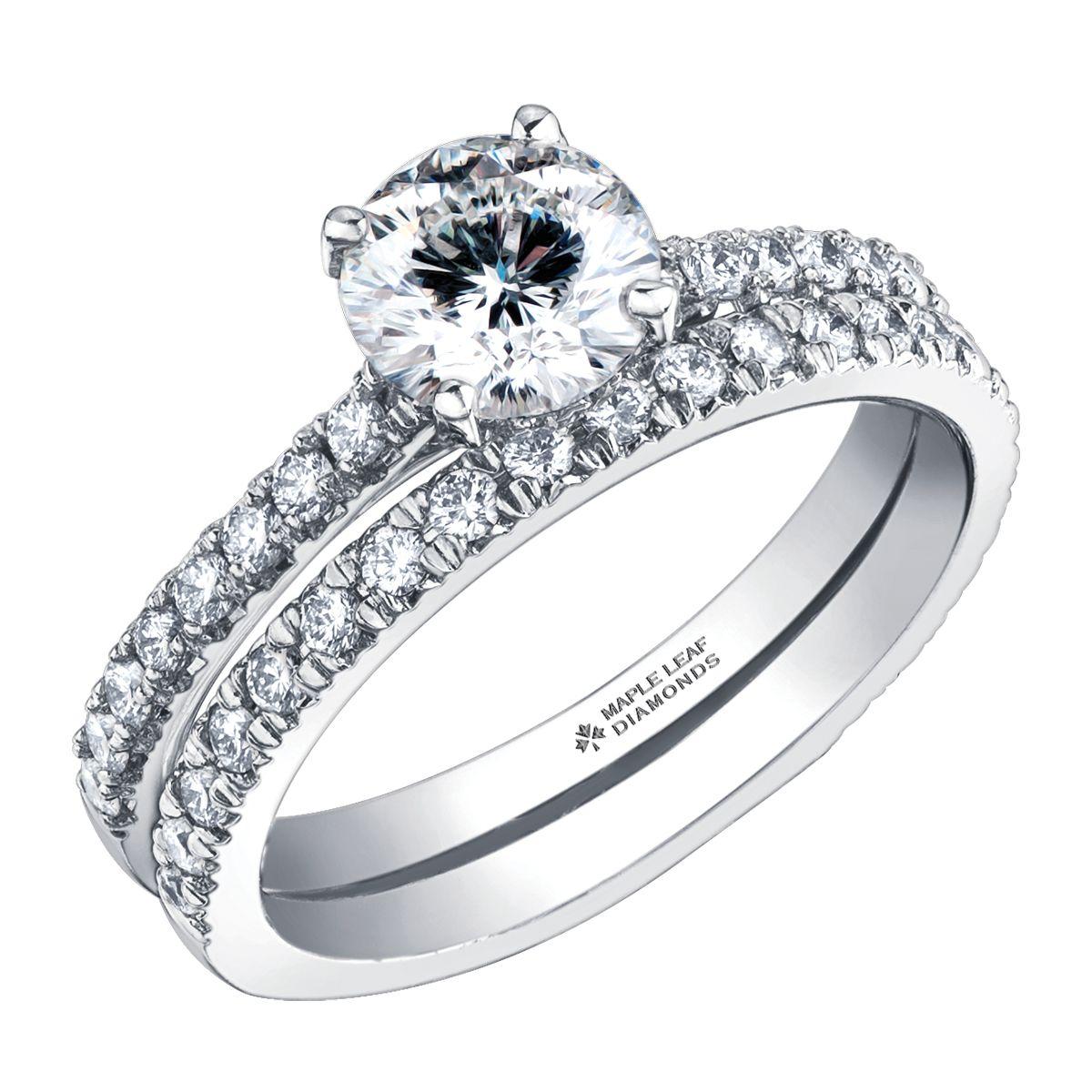 Canadian Modified Round Brilliant Diamond with Diamond