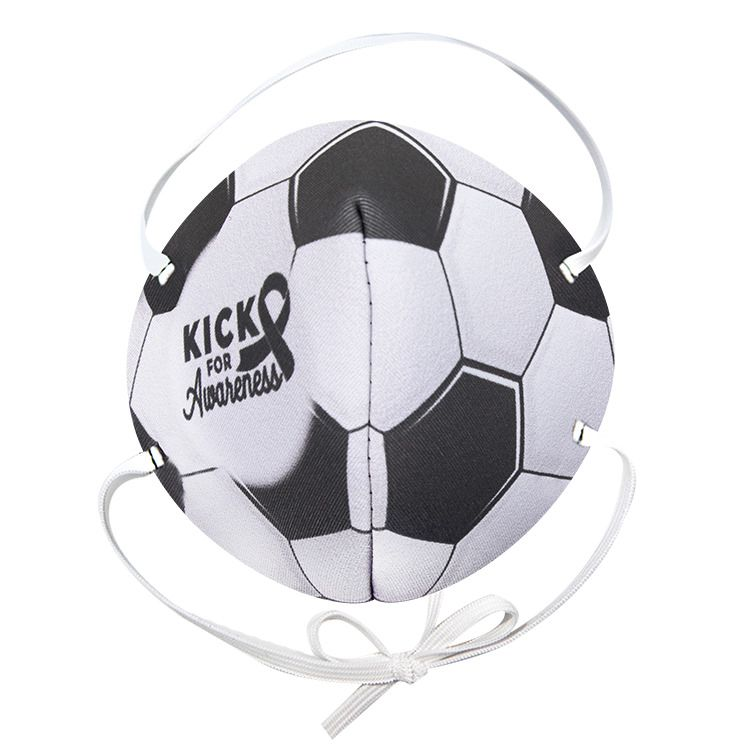 General Use Face Mask Soccer Ball Print In 2020 Soccer Ball Soccer Face Mask