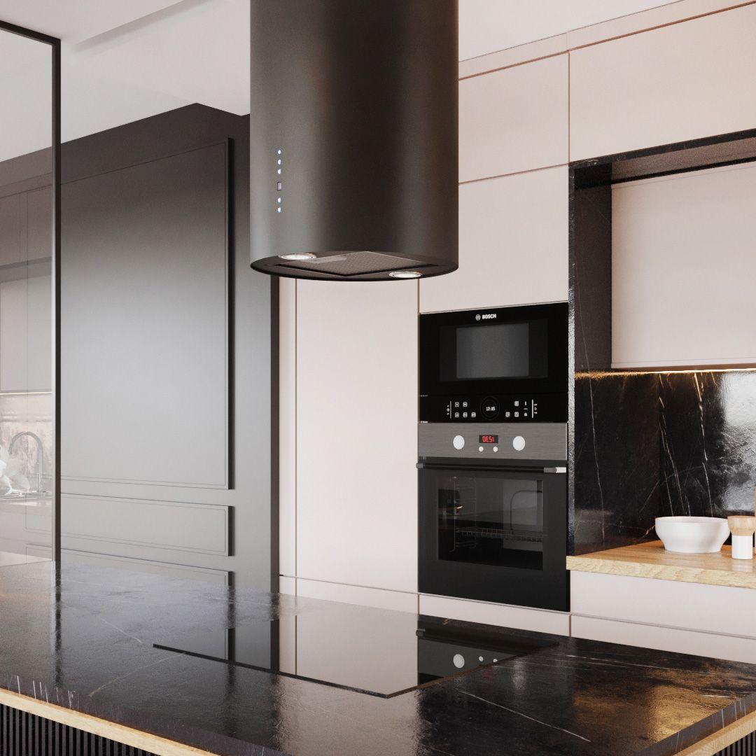 Okap Wyspowy Cylindro Black Matt Nortberg Kitchen Appliances Home Home Decor