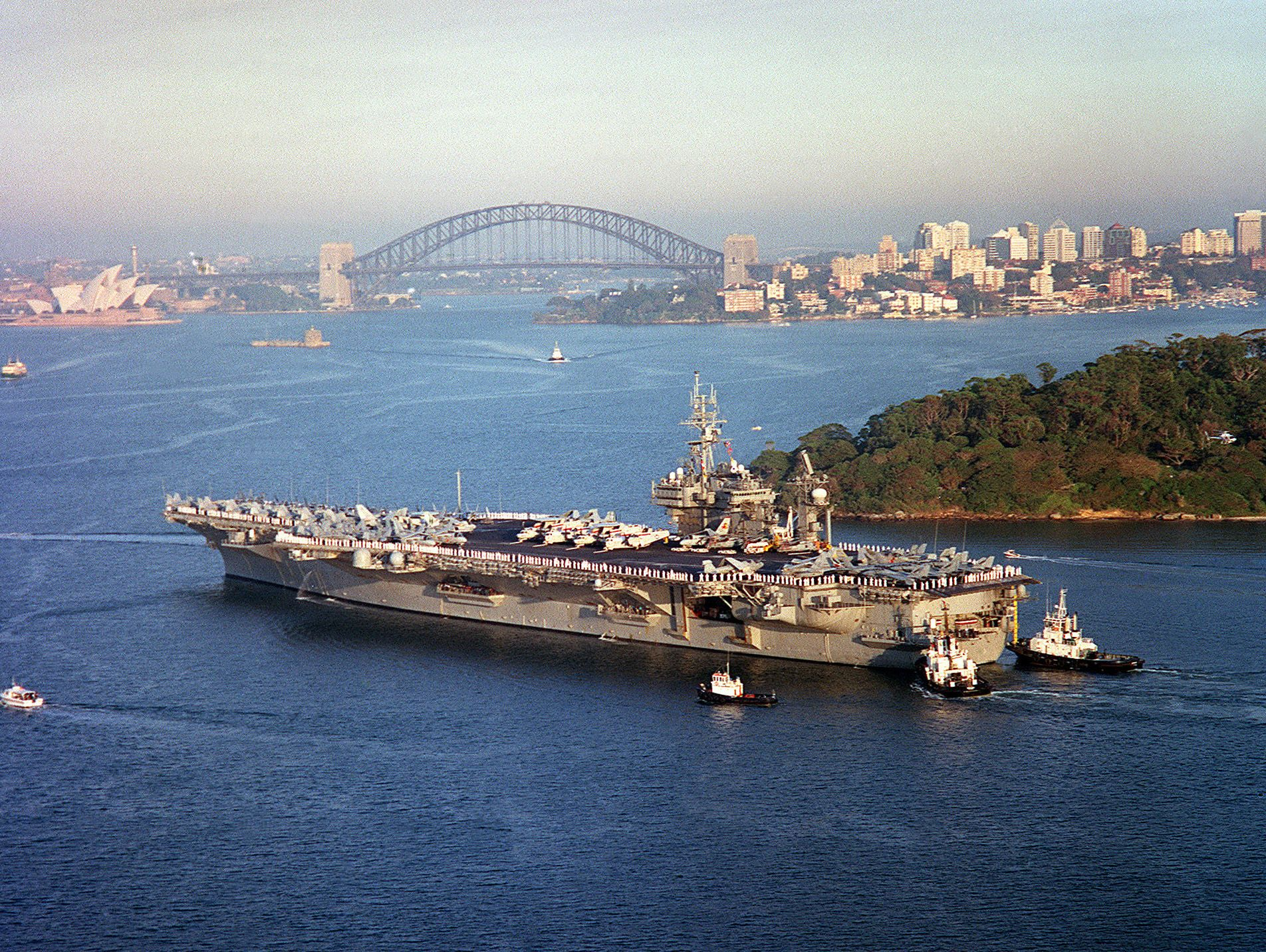 USS Constellation Sydney 2003 Marines and Sailors from OIF/OEF