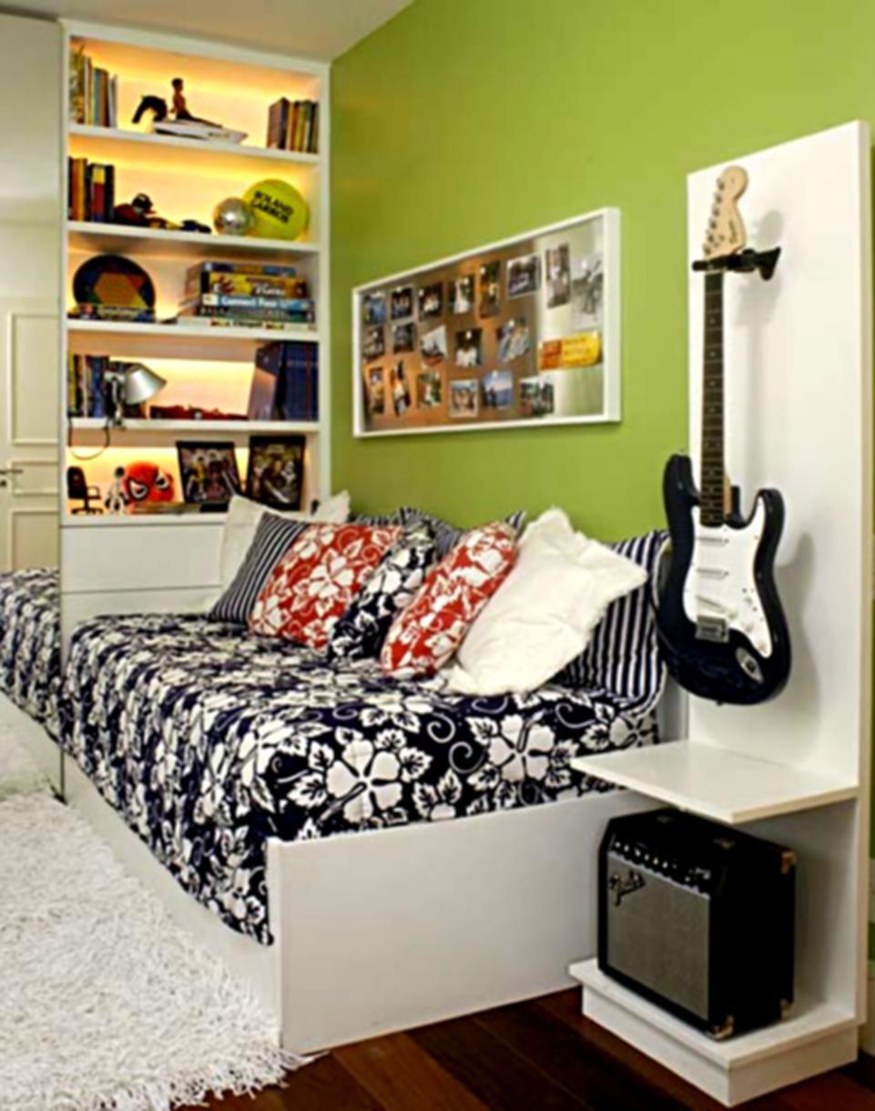 Guitar Set Up Teenager Bedroom Boy Bedroom Design Small Room Design Cool teen room ideas