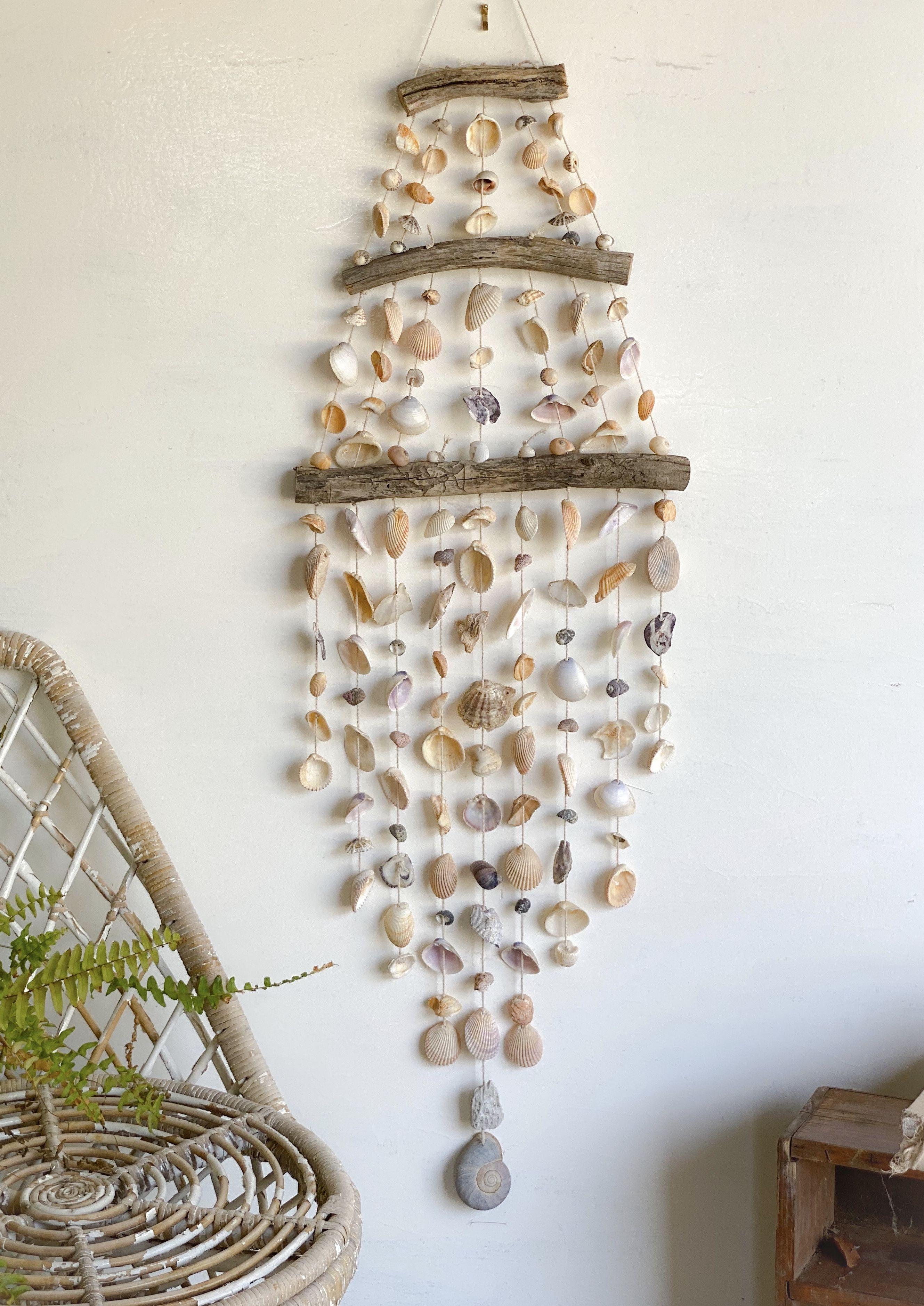Extra Large Shell Wall Hanging In 2020 Seashell Wall Art Beach House Wall Decor Driftwood Wall Art