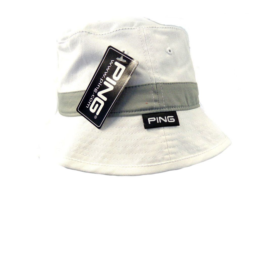 90b45035adf Men Golf Clothing - NEW 2016 Ping Bucket Hat White Lite Gray S M ...