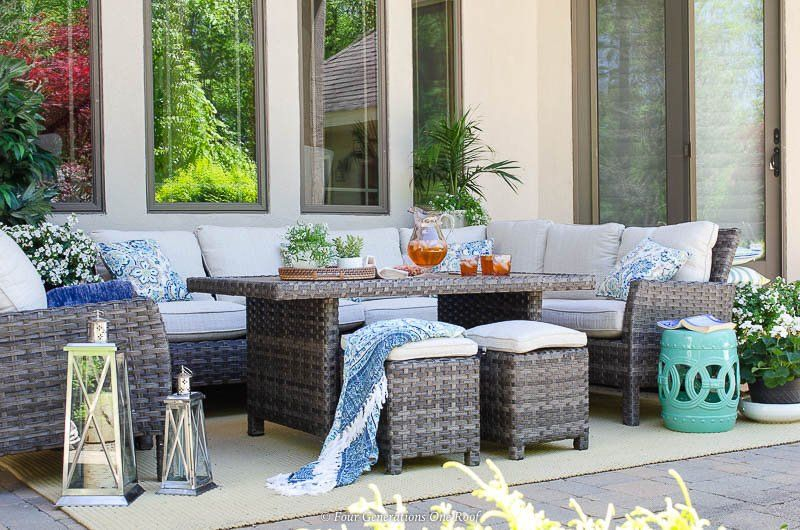 Make The Most Of Those Sunny Days And Clear Evenings With The Cozy Antigua Outdoor Set With In 2020 Outdoor Living Space Indoor Outdoor Living Outdoor Furniture Sets