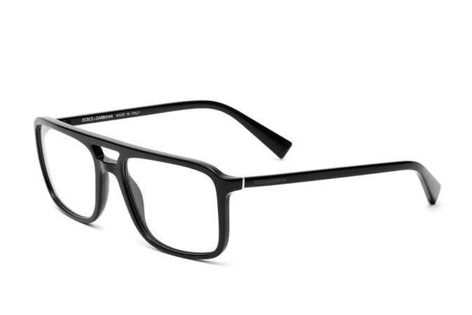 Shiny black square eyeglasses for men DG3267 is part of information-technology - Square shaped eyeglasses for men DG3267 with shiny black acetate frame and elegant double bridge  Discover more on Dolce&Gabbana