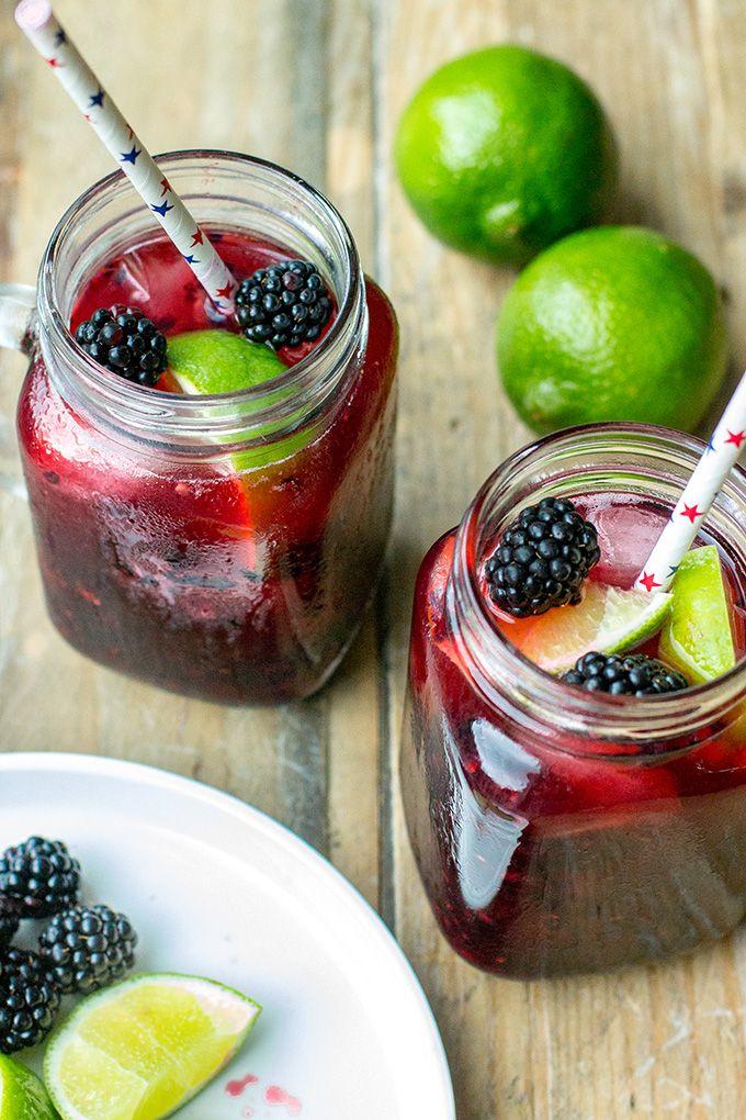 Blackberry Lime Margaritas | Nourish and Fete