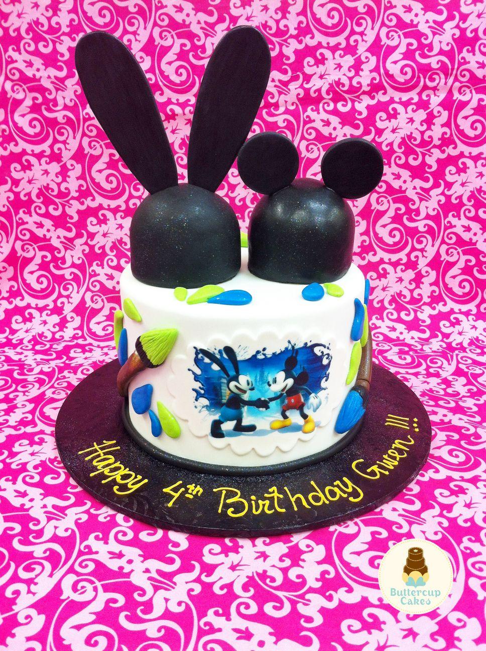 Epic Mickey Birthday Cake   birthday parties   Pinterest   Cumple ...