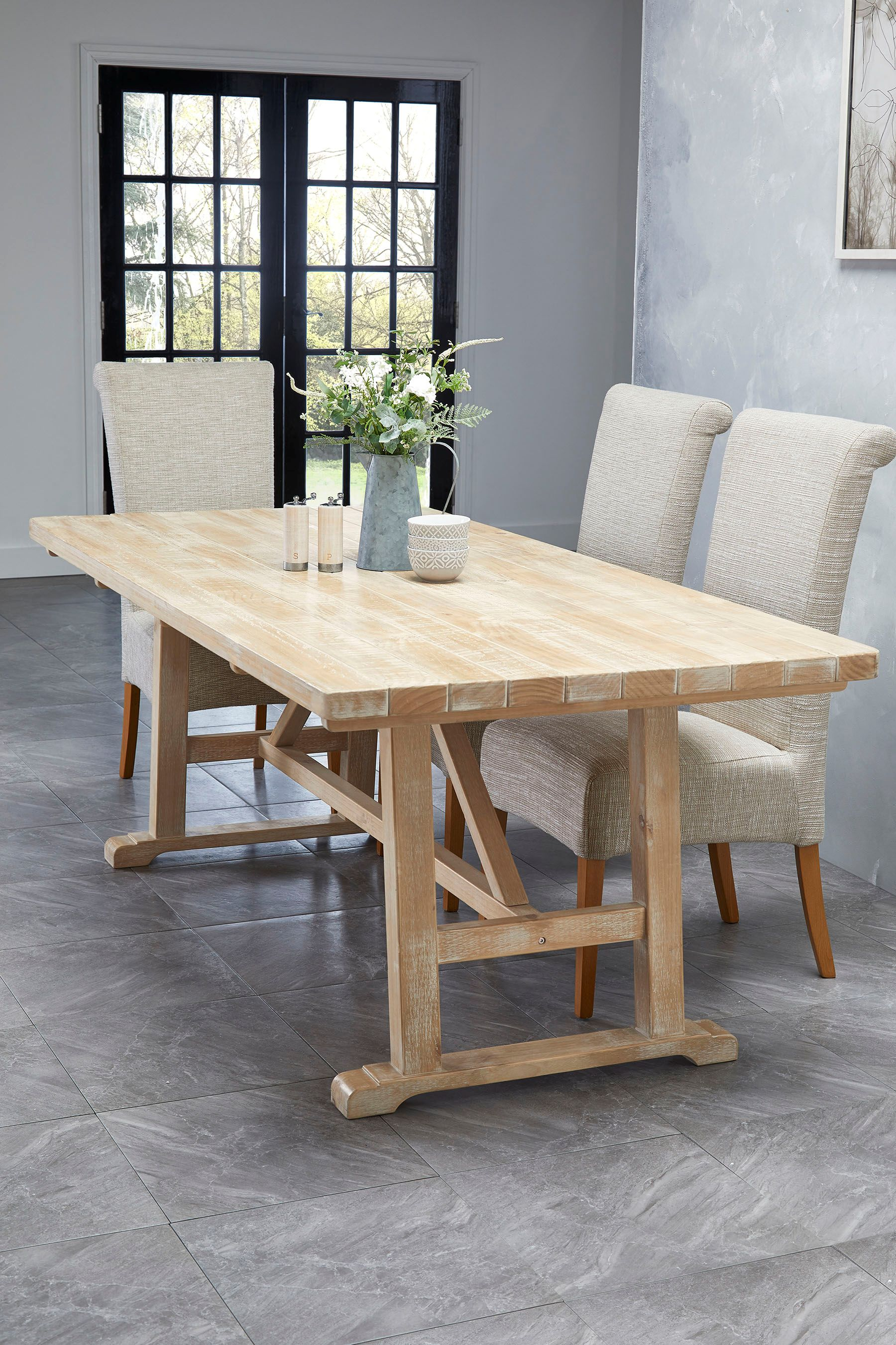 10 Seater Kitchen Table Next Huxley 10 Seater Dining Table Natural In 2019 Products