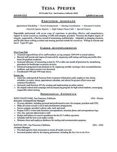 Executive Secretary Resume Executive Assistant Resume Is Made For Those Professional Who Are