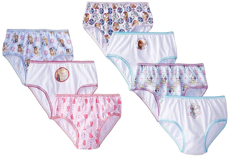 Girls Kids Disney Frozen Elsa Pink Cotton 5 Pack Knickers Underwear Pants Briefs