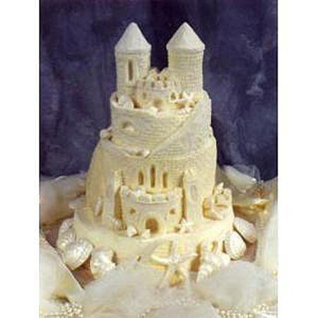 Sandcastle Wedding Cakes Romantic Beach Wedding Cakes #MyHOFWeddinglook