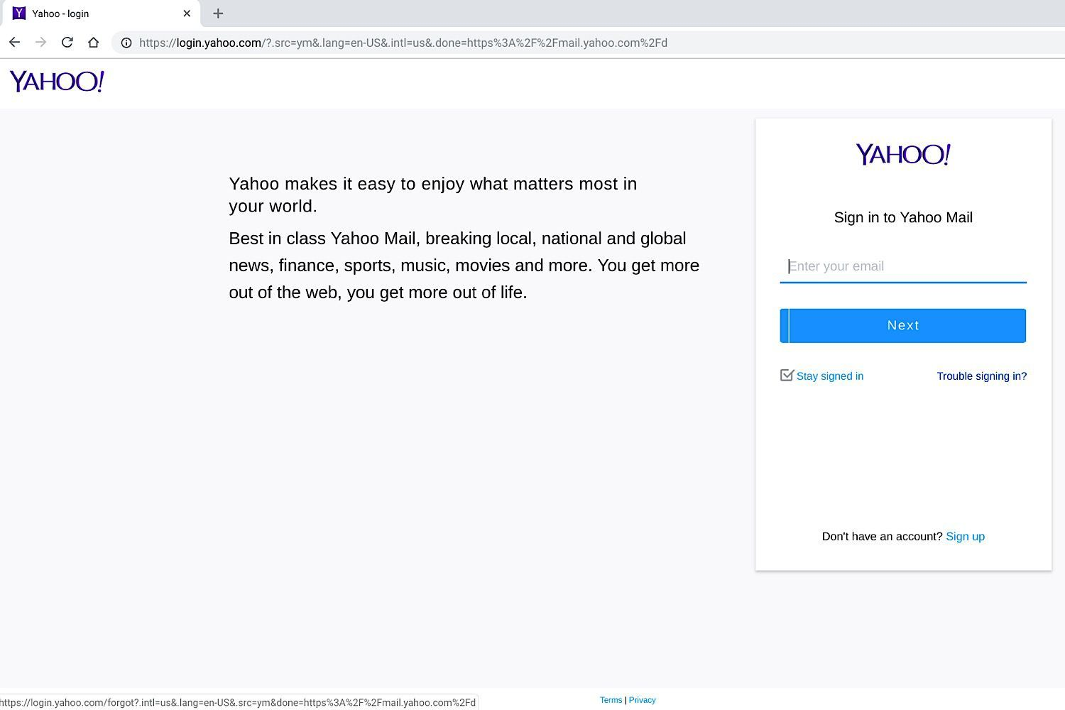 What to Do When You Can't Access Yahoo! Mail Yahoo