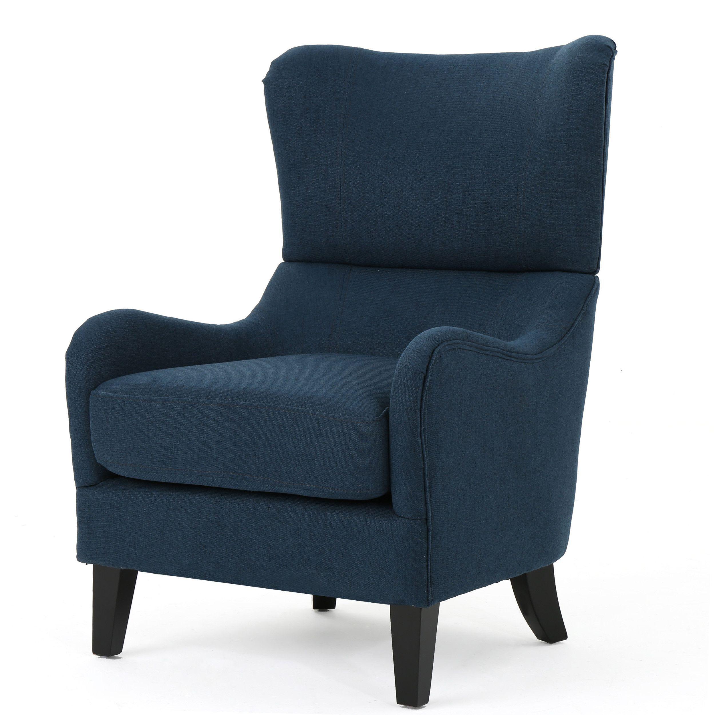 Quinn Navy Blue Fabric Sofa Chair Blue Fabric Sofa Comfy Sofa Chair Sofa Chair