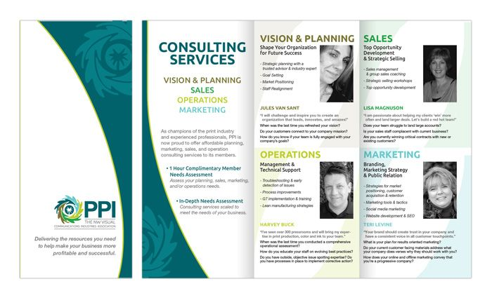 Pacific Printing Industries Association Consulting Brochure by