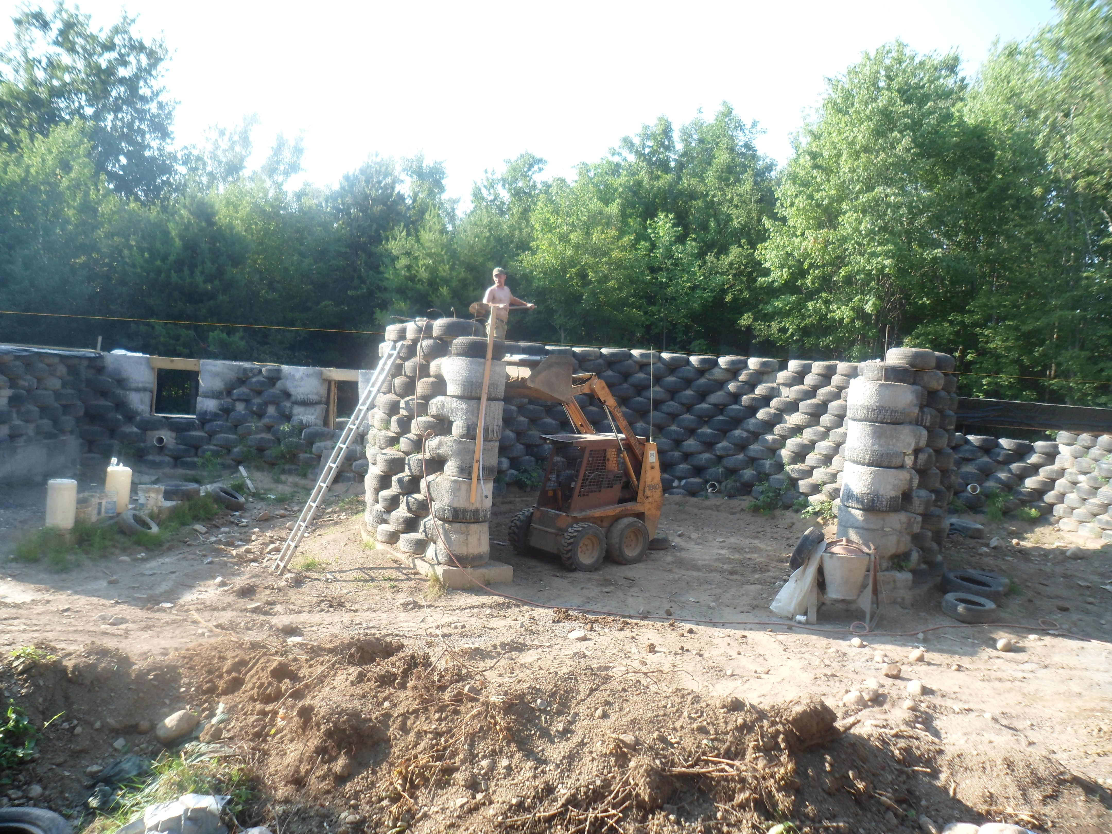 Earthship Plans Free | Cronk Earthship (tire house), rammed ... on earthen homes plans, quonset hut homes plans, earth berm home plans, straw bale house plans, compressed earth block house plans, earth oven plans, tire houses plans, large rambler house plans, earth home floor plans, rammed tire building, partial earth contact home plans,