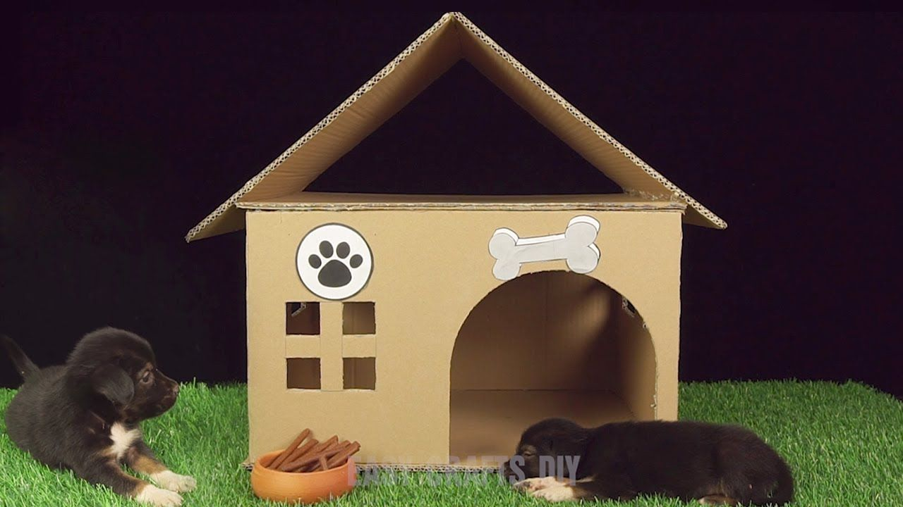 How To Build Easy Dog House From Cardboard Easy Crafts Diy Dog