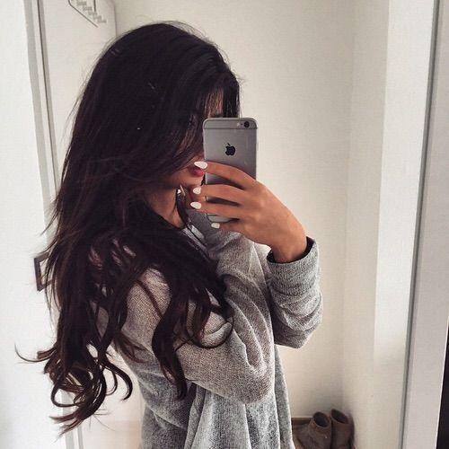 Image Via We Heart It Hair Mirror Nails Tumblr Selfie