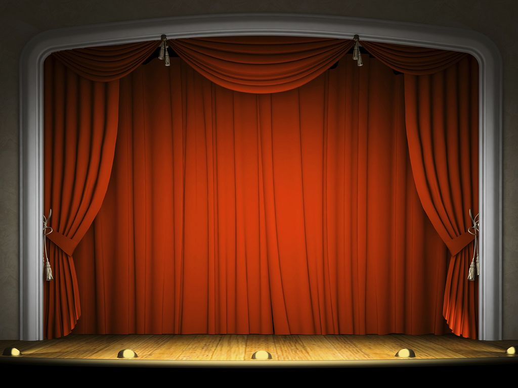 Stage curtain wallpaper curtain designs - Empty Stage With Red Curtain In Expectation Of Performance