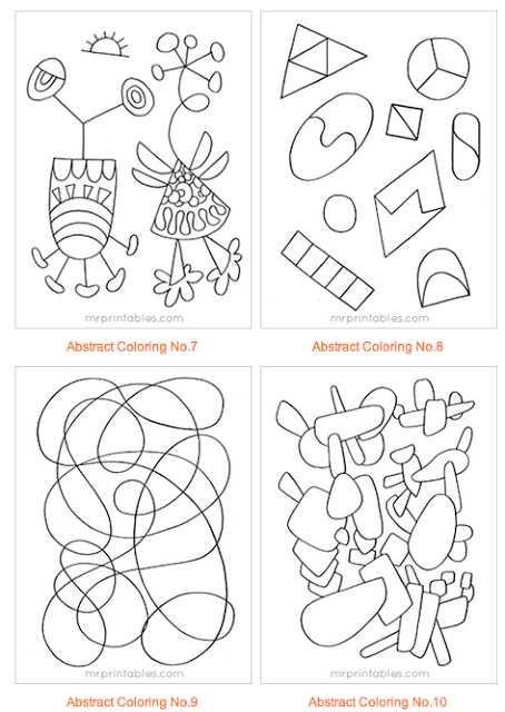 Abstract Coloring Pages for Kids [Printable] | Fotocopias ...