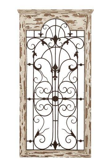 Uma Distressed Wood Metal Wall Decor Hautelook Gate Wall Decor Outdoor Wall Decor Tuscan Decorating