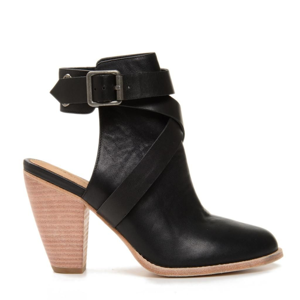 The Coolest Spring Boots in Stores Right Now - White Leather Buckle Ankle Boots, $118; at Next