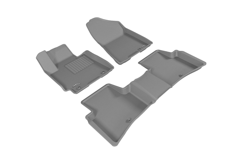 Kagu Rubber 3D MAXpider Complete Set Custom Fit All-Weather Floor Mat for Select Hyundai Tucson Models Tan