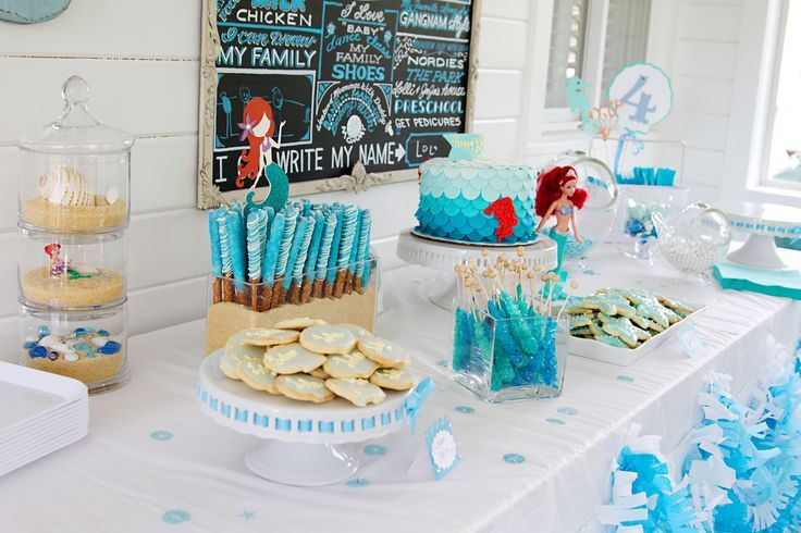 Ocean Table Decorations Under The Sea Party Dessert Table