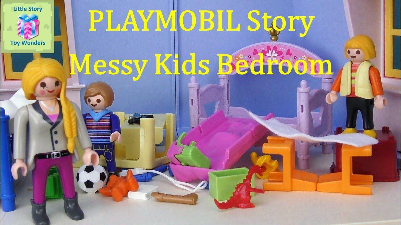 Playmobil Schlafzimmer ~ Playmobil fun story messy kids bedroom playmobil short stories