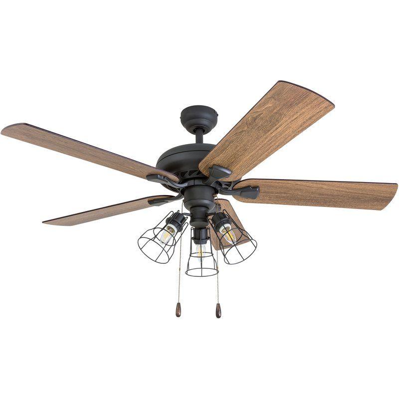 52 Ravenscourt 5 Blade Led Ceiling Fan 125 99 On Sale Small Bulbs Ceiling Fan Ceiling Fan Accessories Ceiling Fan With Remote