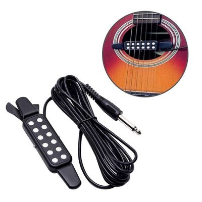 Portable Clip On Acoustic Guitar Pickup Black Acoustic Guitar Pickups Guitar Pickups Guitar