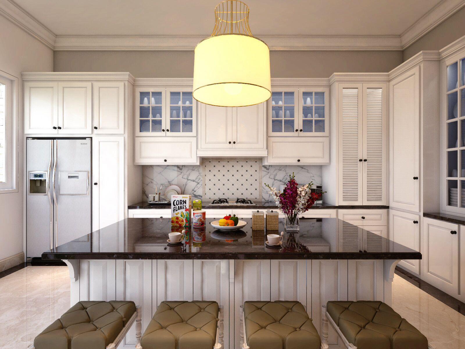 Kitchen Set Modern Classic White Kitchen Sets Simple