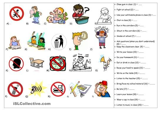 resultado de imagen para school rules worksheets educaci n pinterest classroom rules. Black Bedroom Furniture Sets. Home Design Ideas