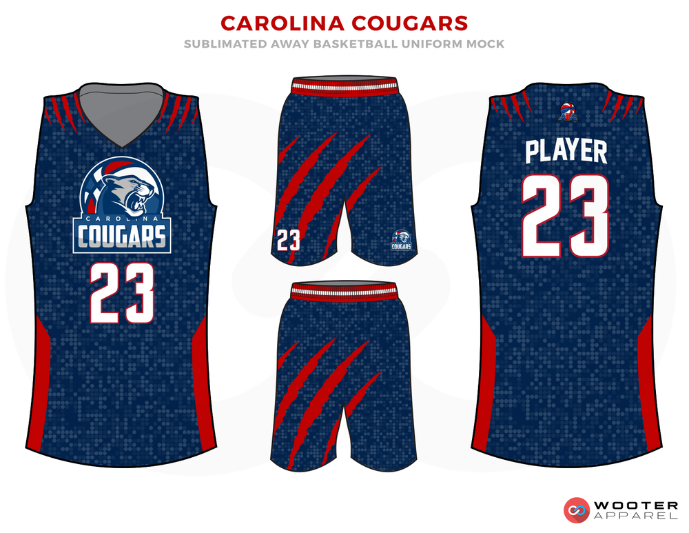 Running Of The Bulls Uniform CAROLINA COUGARS Blue ...